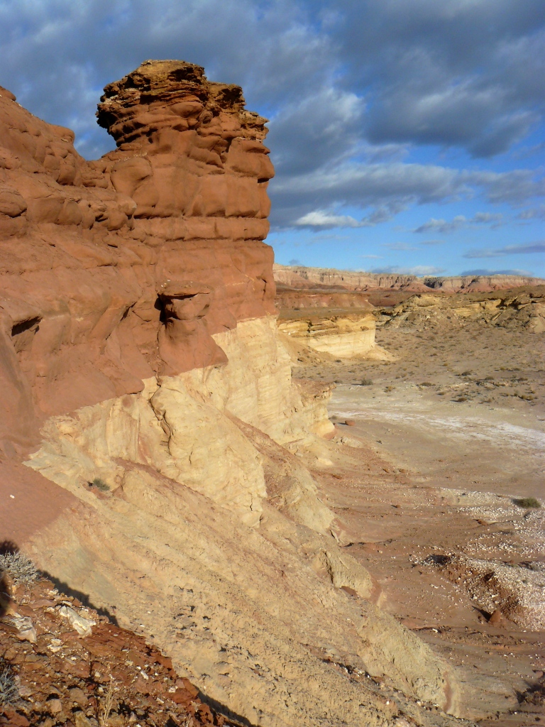 Green River, Utah. Sandstone  bleached by CO2-charged brines