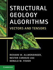 Structural Geology Algorithms Vectors and Tensors