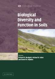 Biological Diversity and Function in Soils front cover