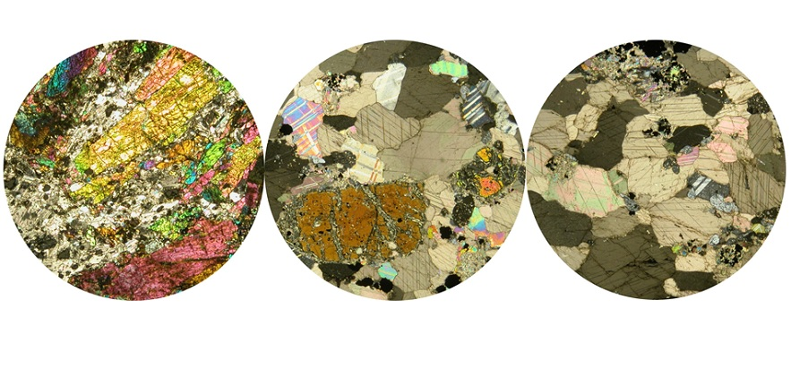 Photomicrographs of carbonatites with REE bearing mineral phases