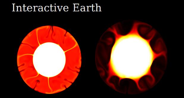 A screenshot of Interactive Earth