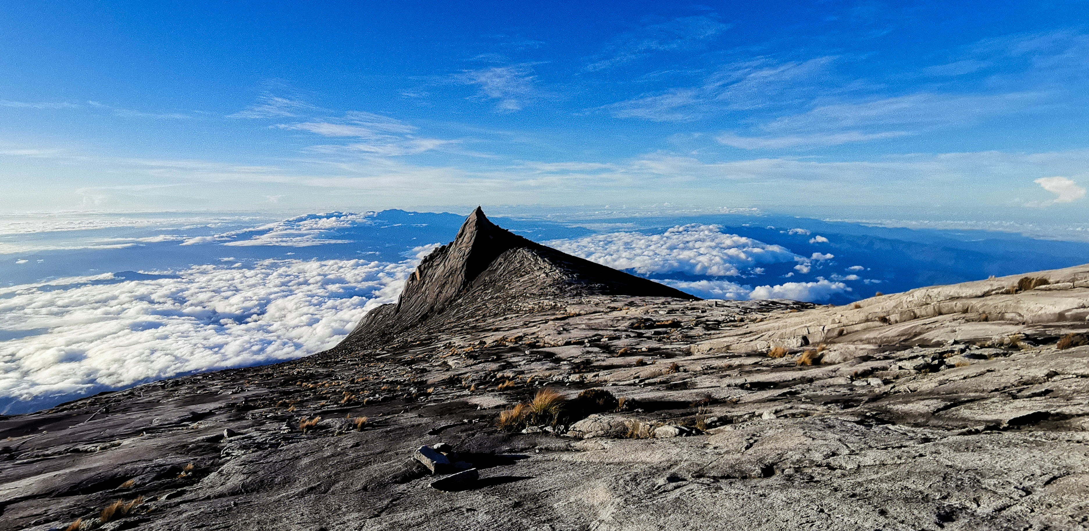 Photo of the view from to top of Mount Kinabalu