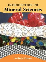 An introduction to Mineral Sciences front cover