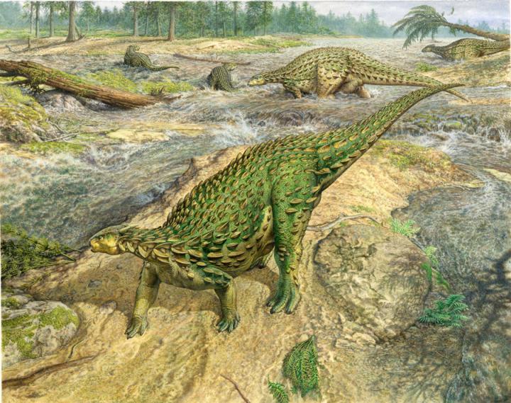 Illustration of Scelidosaurus, by John Sibbick