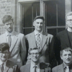 Part of a Sedgwick club photograph featuring Michael Bown