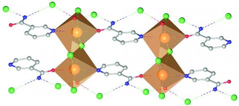 Nicotinamide*CaCl2*(H2O) Ionic Co-Crystal (ICC) crystal structure