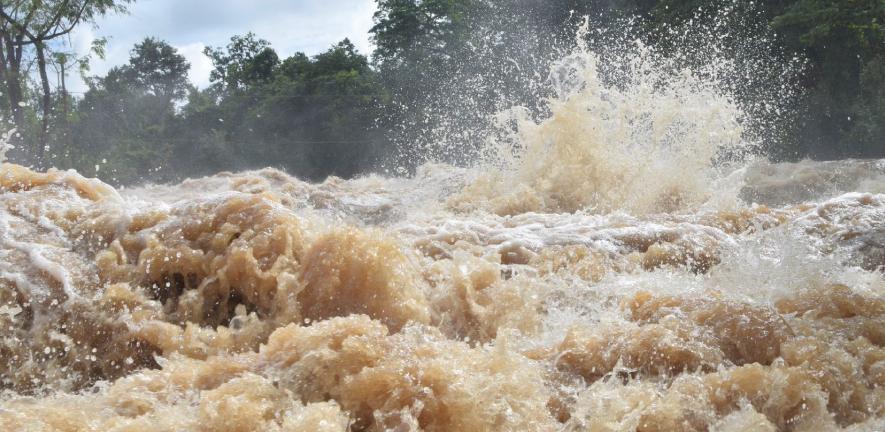 Image of the Khone waterfall, Mekong River